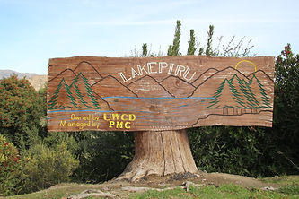Lake Piru entrance sign