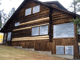 Indiana log home blasting