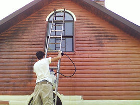 Indiana log home cleaning