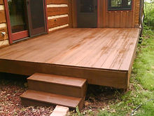 Indiana log home staining