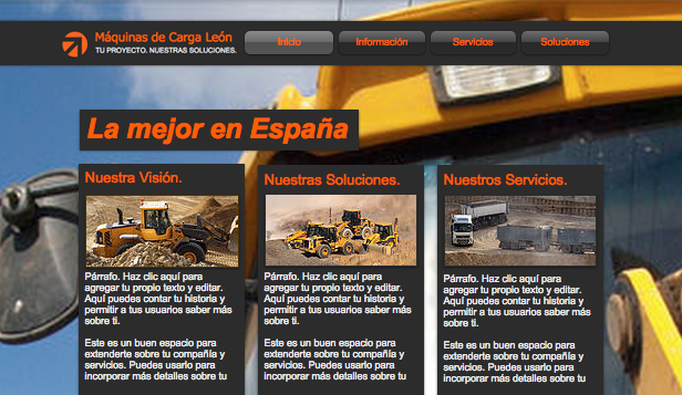 Autos y Transportes website templates – Máquinas de carga