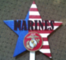 Marines, Hand cut and painted Military Stars
