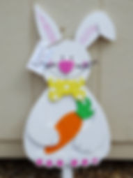 E11-Rabbit with  Carrot & Yellow tie