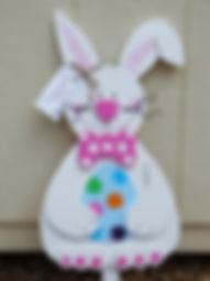 E12-Rabbit with  egg & Pink tie