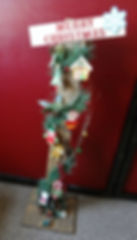 """C02- Lighted Merry Christmas post, 3'hx4""""w with a 10""""x12"""""""