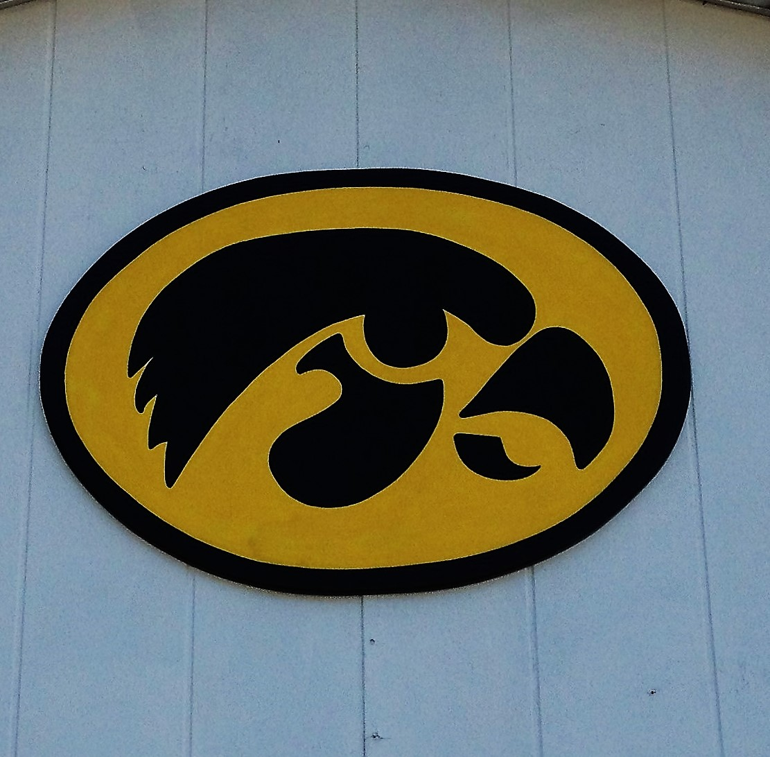 Large Iowa Hawkeyes Sign
