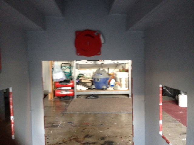 Fire station interior