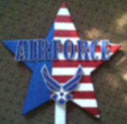 Airforce, Hand cut and painted Military Stars