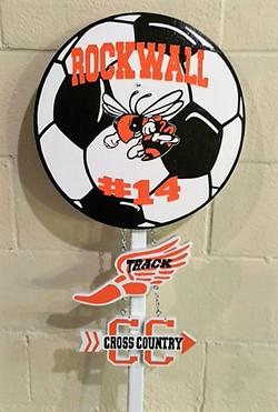 Soccer Track Sign