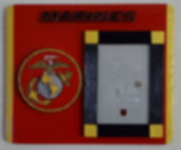 Marines,Hand cut and painted military wall plaques