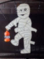 Who's your little Mummy this guy with lighted lantern