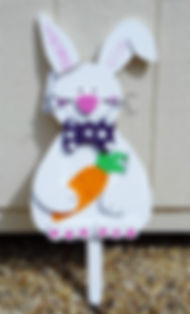E13-Rabbit with  Carrot & Purple  tie