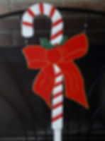 Candy Cain with red bow