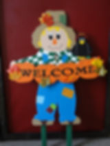 Cute Scarecrow wishing everyone a warm welcome