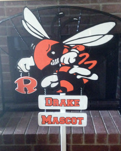 Large Mascot Sign with hanging signs
