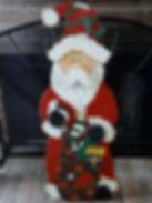 """C01-Large Santa free standing 36""""x14"""""""