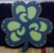 SP11- Large Shamrock with green gems.