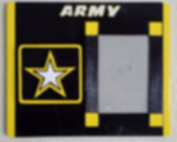 Army, Hand cut and painted military wall plaques