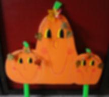 Cute little pumpkin family