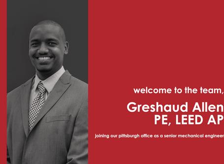 Greshaud Allen joins Tec Inc.'s Pittsburgh Office