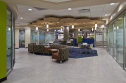 Lubrizol offices lobby lighting