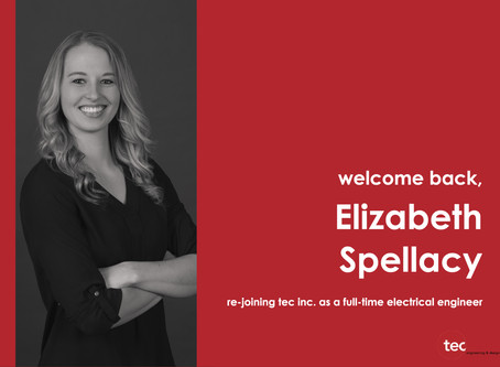 Tec Inc. welcomes Elizabeth Spellacy back to Electrical Team
