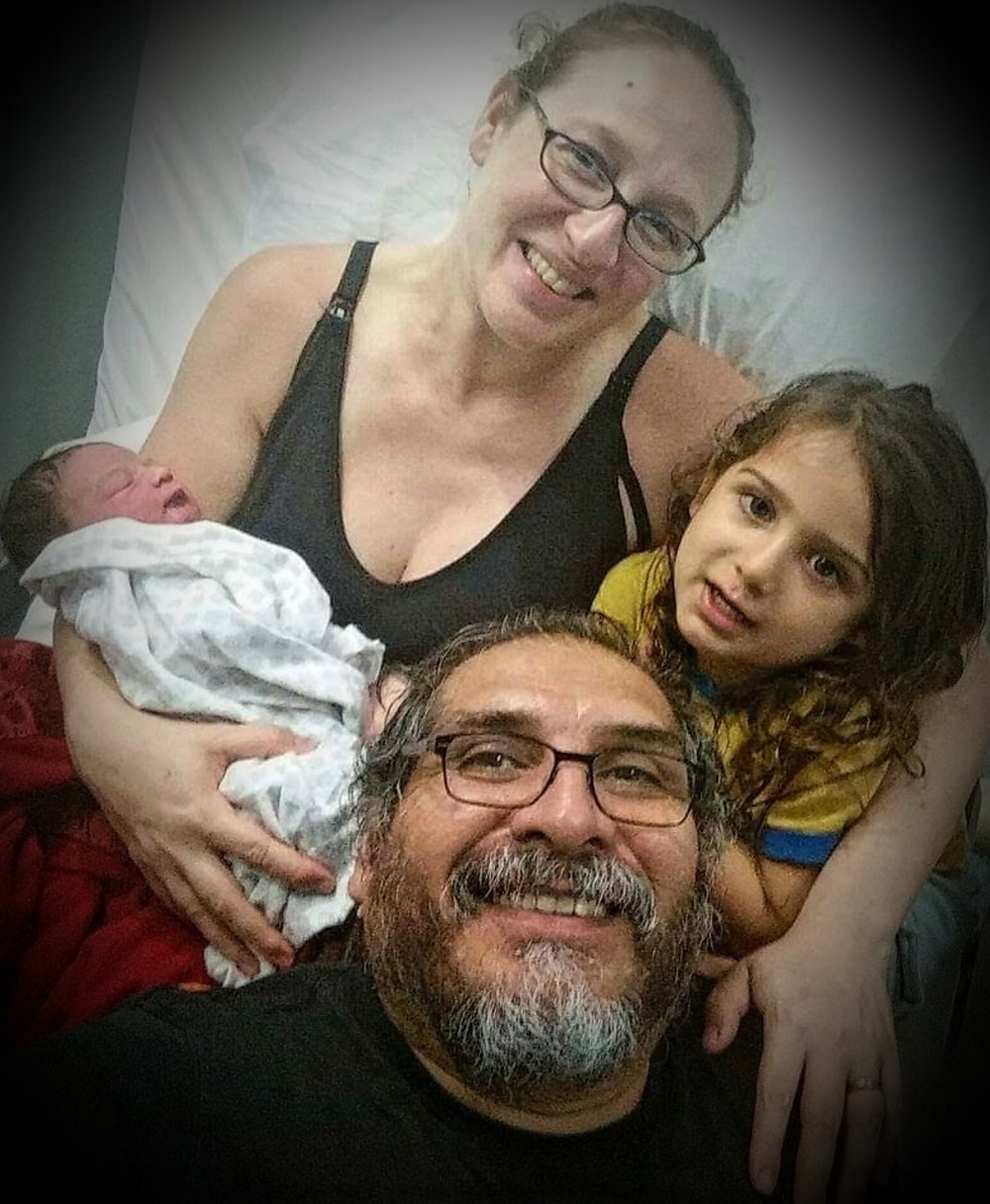 Marino Brought Dante to the hospital to met Leila for the first time. She was only seven hours old and he was already so proud and protective of her.