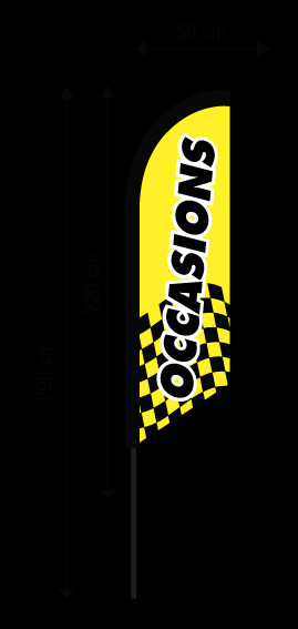 drapeau occasion jaune standard drapeau garage lille bizzi print. Black Bedroom Furniture Sets. Home Design Ideas