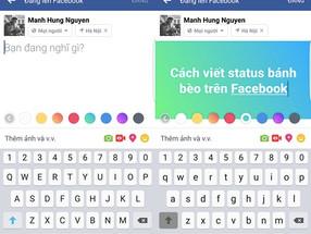 Como escrever um status colorido no Facebook?