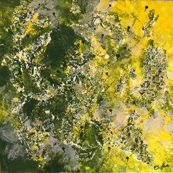 Looking for a new life yellow (30 x 30)