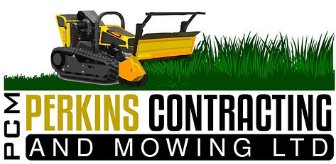 Perkins Contracting nd mowing Logo Gorse mulching
