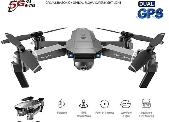 New GPS Drone 4K HD Dual Camera Wide-Angle Anti-Shake WIFI FPV RC V