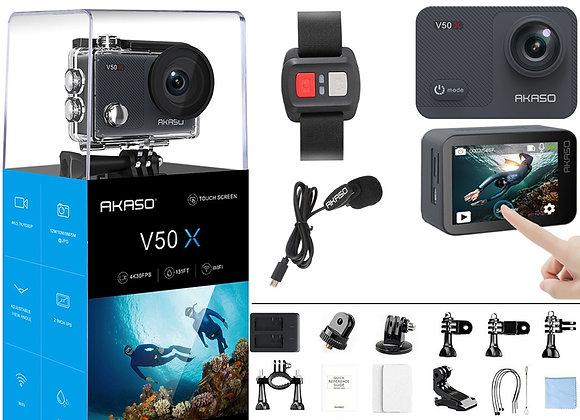 AKASO V50X Native 4k/30fps WiFi Action Camera  Waterproof