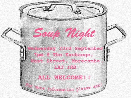 Soup Night - Wednesday 23rd September 2015