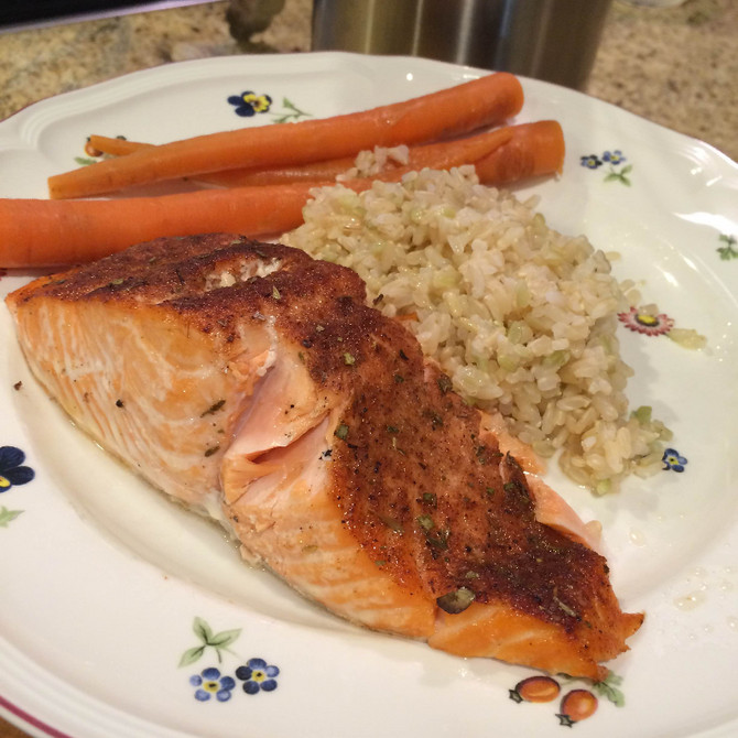 Salmon rubbed with Mediterranean Bliss