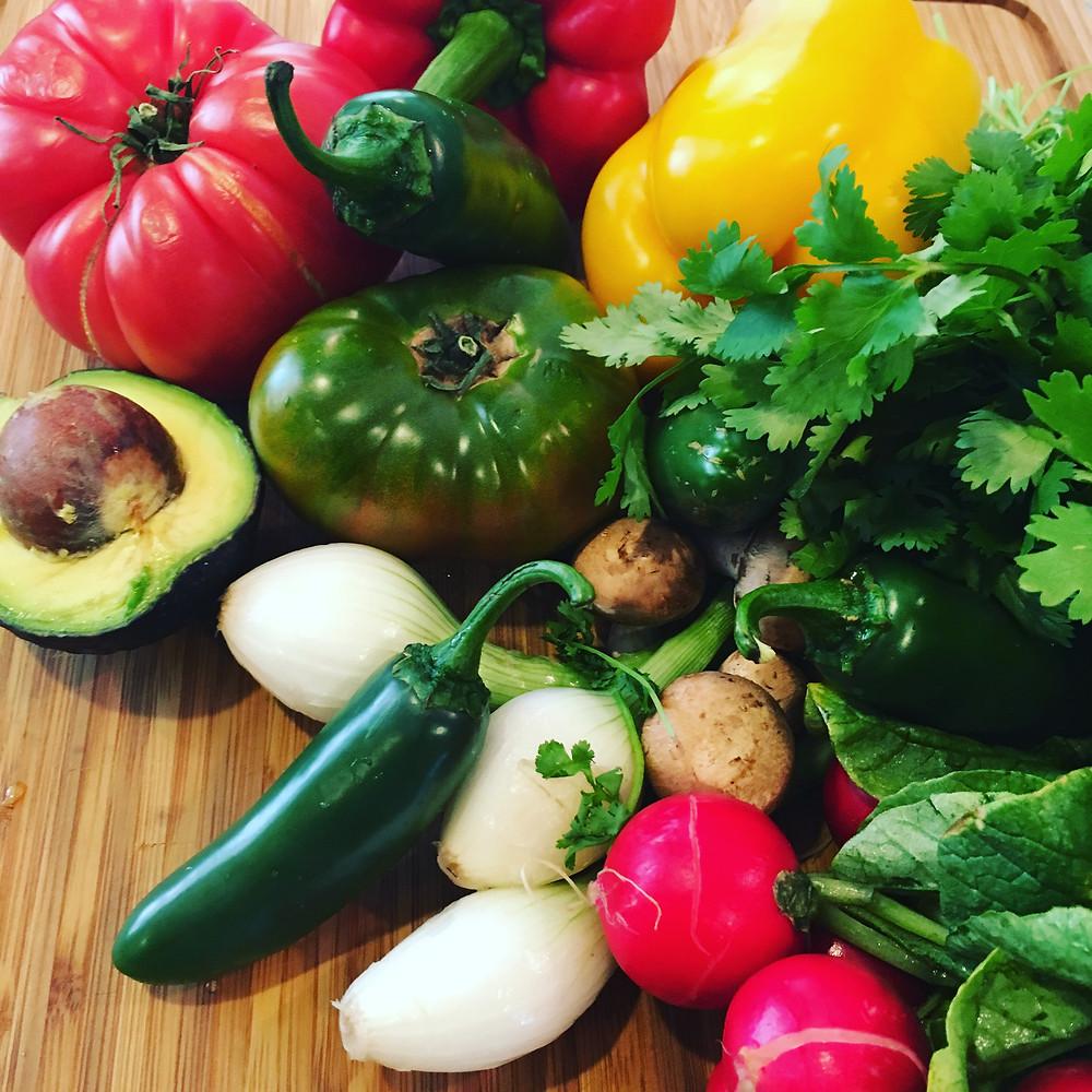 Lots of healthy vegetables!