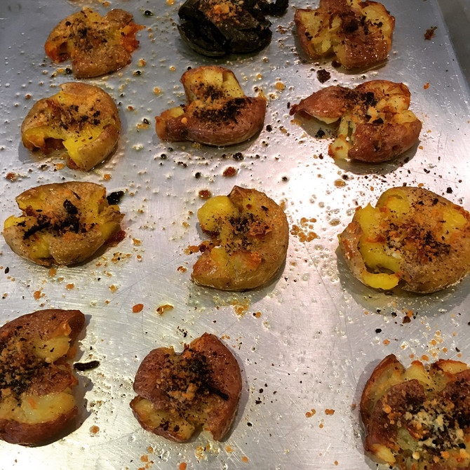 Sizzling Smashed Potatoes