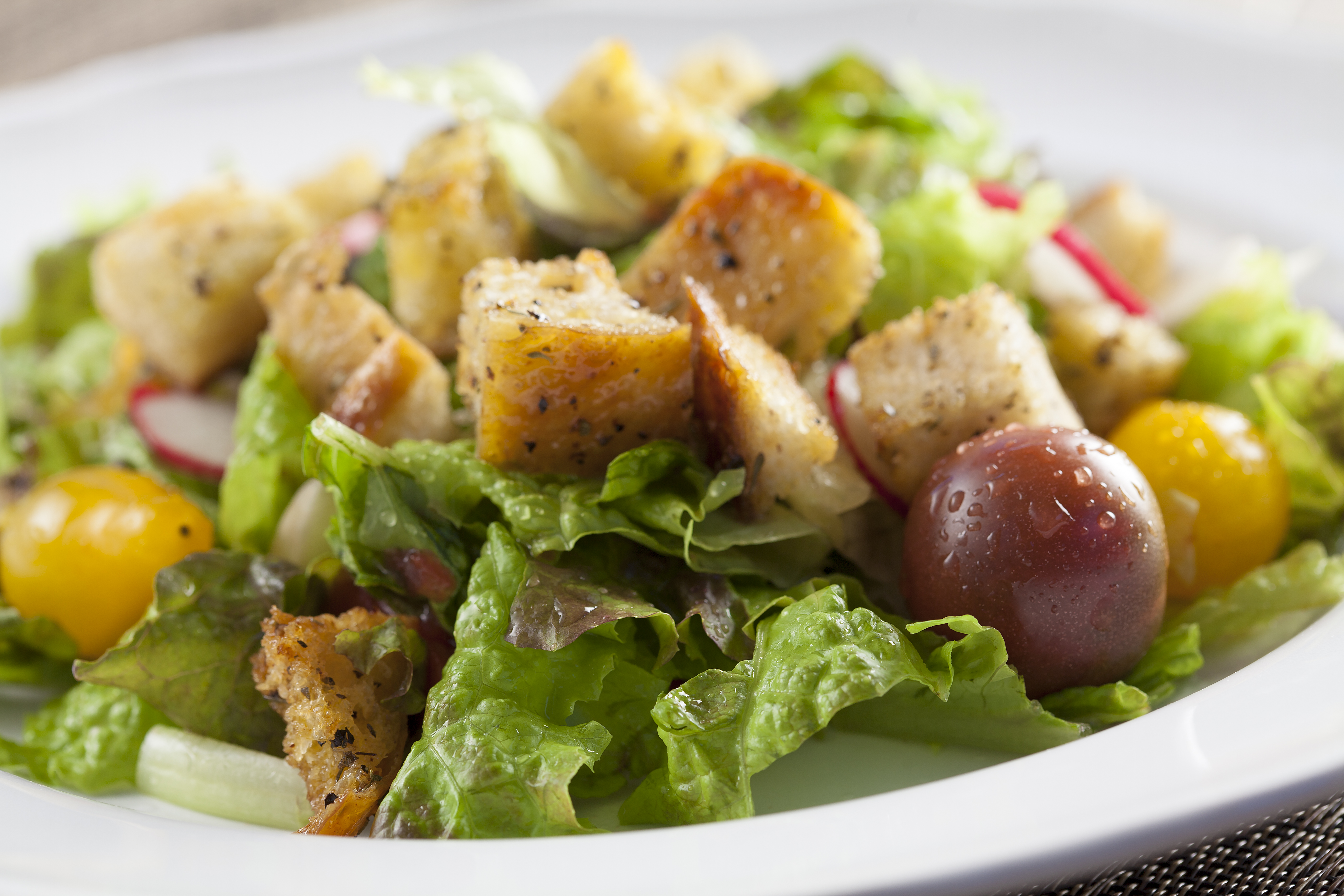 Croutons on Salad - Copy