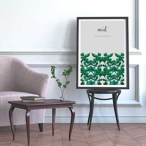 Grey Thyme Herb Art Print