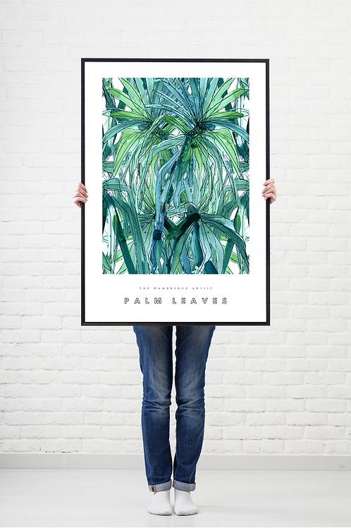 Palm Leaves (2020) Botanical Art Print
