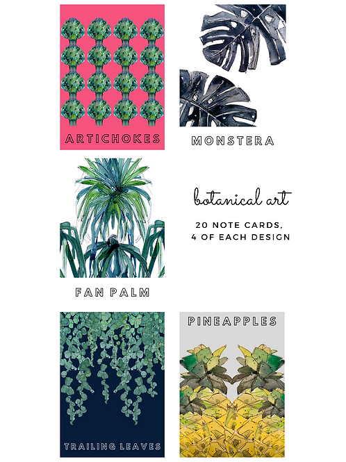 The Classic Note Card Set (5 designs, 20 Notecards & Envelopes)