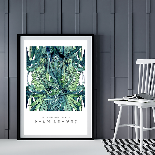 Palm Leaves (January 2021) Botanical Art Print
