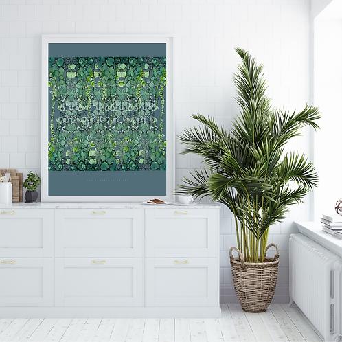 Emerald Leaves Botanical Art Print