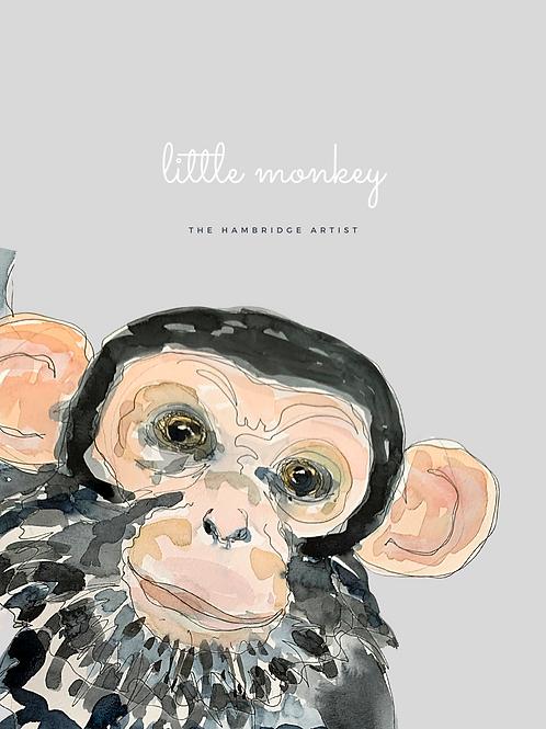 Little Monkey Art Print (light)