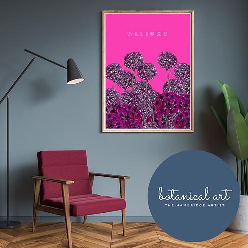 Alliums Botanical Art Print