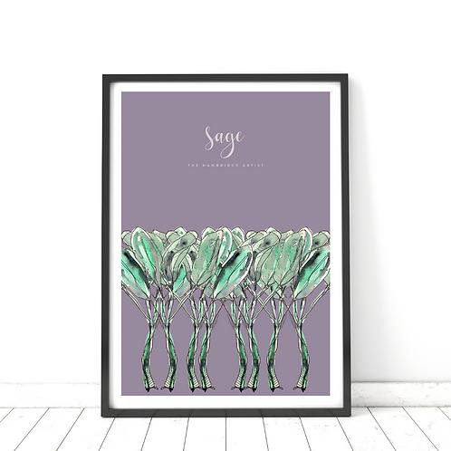 Purple Sage Print
