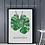 Thumbnail: Two Monstera Leaves Botanical Art Print
