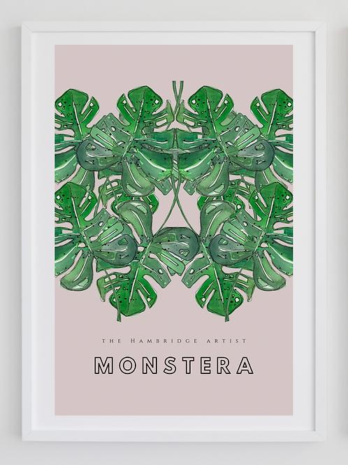 Monstera leaves Botanical Art Print