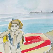 Sister, Lyme Regis 1980's