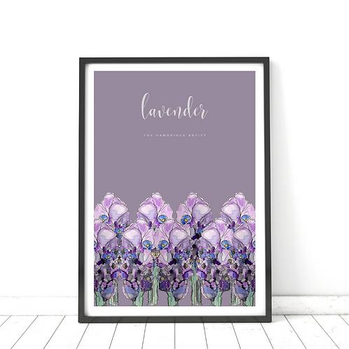 Purple Lavender Print